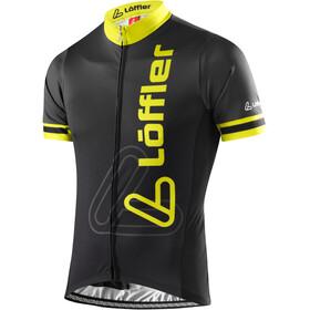 Löffler Racing Kortärmad cykeltröja Herr gul/svart